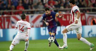 Barcelona empata a cero con Olympiacos