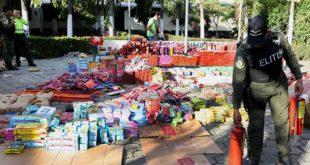 Decomisan fuerte cargamento de pólvora en San Pedro Sula